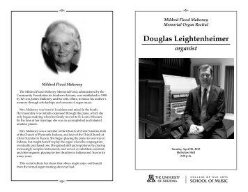 Douglas Leightenheimer - University of Arizona
