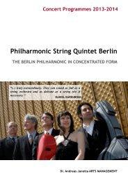 Philharmonic String Quintet Berlin - Andreas Janotta Arts Management