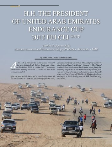 hh the president of united arab emirates endurance cup ... - Tutto Arabi