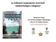 Le infezioni respiratorie ricorrenti Epidemiologia e diagnosi ... - Sipps