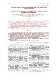 Contribuţii privind profilul immunologic umoral la pui broiler trataţi cu ...