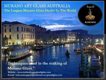 MURANO ART GLASS AUSTRALIA Techniques ... - Wayfair.com.au