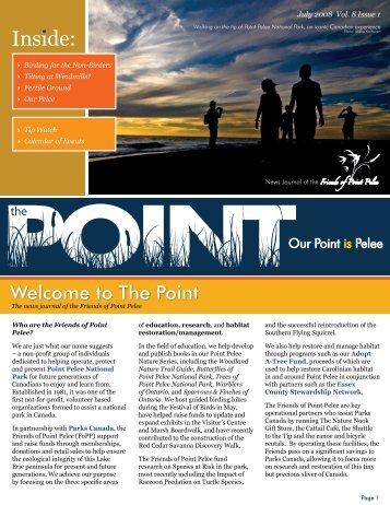 Welcome to The Point - Friends of Point Pelee