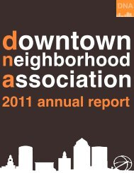 2011 DNA Annual Report - Downtown Neighborhood Association of ...