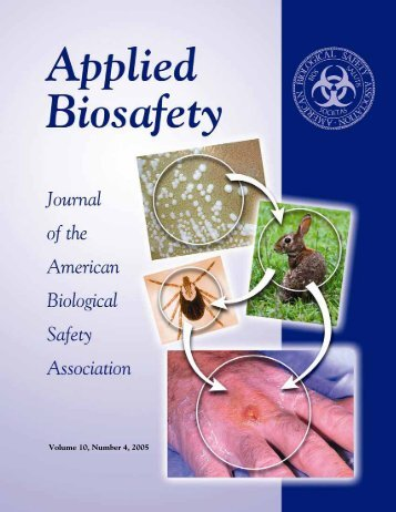 Volume 10, Number 4, 2005 - American Biological Safety Association