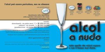Pubblicazione Alcol a nudo - In adolescenza