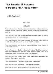 La Bestia di Porpora o Poema di Alessandro - Italianistica e Spettacolo