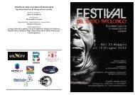 FESTIVAL DEL TEATRO PATOLOGICO - Anima Roma
