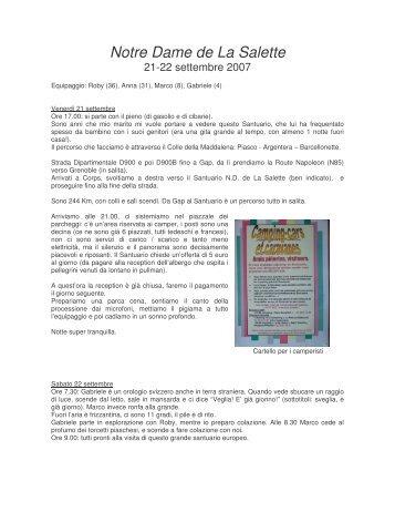 Il Santuario di Notre Dame de la Salette, Rhone Alpes - Camper online