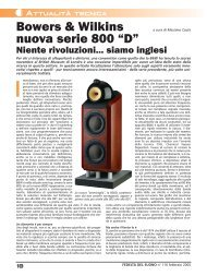"Bowers & Wilkins nuova serie 800 ""D"" - Audiogamma"