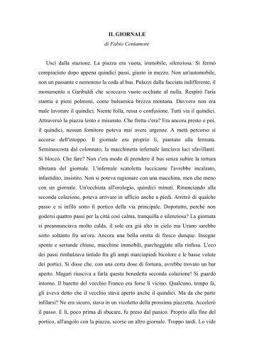 IL GIORNALE di Fabio Centamore Uscì dalla ... - WebSite Horror