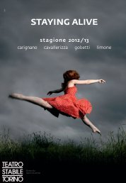 staying alive - Teatro Stabile di Torino