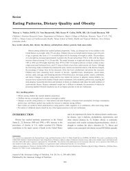 Eating Patterns, Dietary Quality and Obesity - Journal of the ...