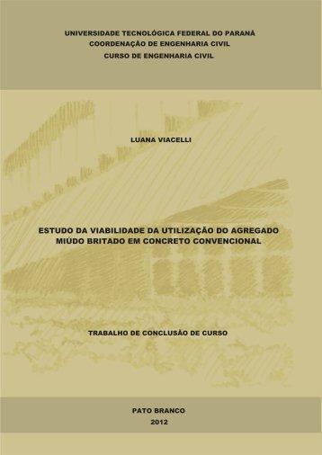 estudo da viabilidade da utilização do agregado miúdo ... - UTFPR