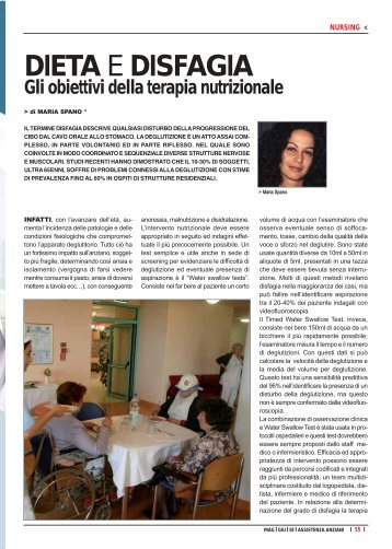 DIETA E DISFAGIA - Assistenza Anziani