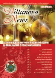 Villanova news 2012 - Comune di Villanova Mondovì
