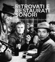 Ritrovati & Restaurati sonori.pdf - Cineteca di Bologna