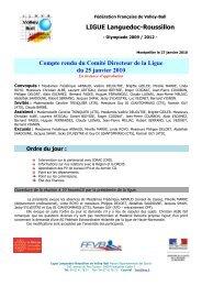 PV N°3 - Ligue du Languedoc-Roussillon de Volley-Ball - Free
