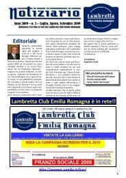 n. 3 - Luglio - Agosto - Settembre - Lambretta Club Emilia Romagna