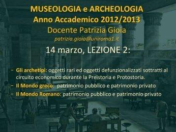 GIOIA LEZIONE 2_ 2013.pdf - Lettere e Filosofia