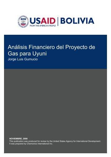 Análisis Financiero del Proyecto de Gas para Uyuni