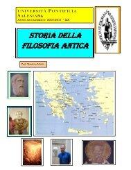 Storia della Filosofia antica - Università Pontificia Salesiana