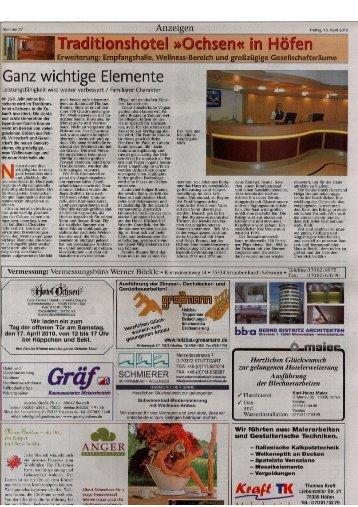 Pressemitteilung lesen - Hotel Ochsen