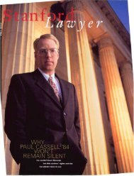 Fall 2000 – Issue 59 - Stanford Lawyer - Stanford University