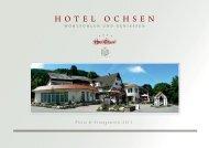 Preise & Arrangements 2011 - Hotel Ochsen
