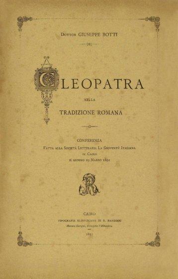 Cleopatra nella Tradizione Romana