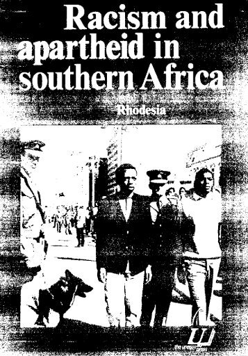 Racism and apartheid in southern Africa ... - unesdoc - Unesco