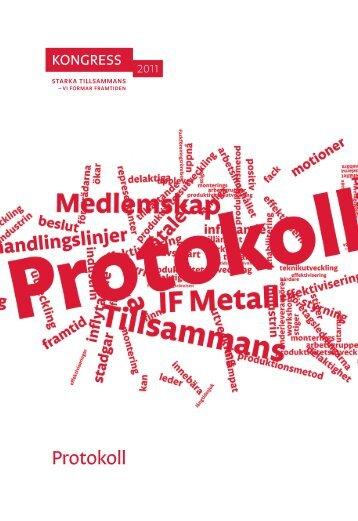 Protokoll - IF Metall