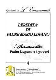 PADRE LUPANO E I POVERI.pub - Associazione FIDES ONLUS