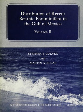 Distribution of Recent Benthic Foraminifera in the Gulf of Mexico