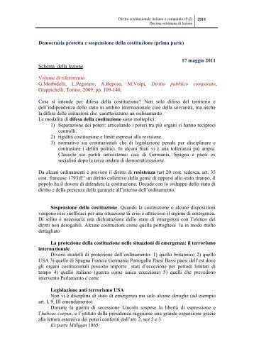 Diritto Costituzionale italiano e comparato (P-Z) - Skuola.net