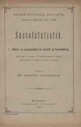 Socialstatistik, Arbeids- og Lønningsforhold ved Skovdrift og ...