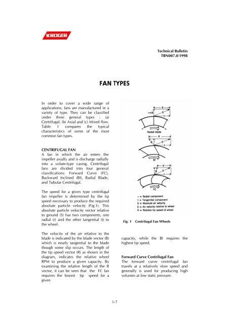 FAN TYPES - Kruger Ventilation