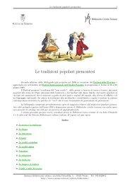 Le tradizioni popolari piemontesi - Città di Torino