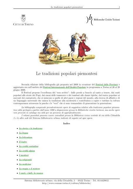 Città Piemontesi Le Tradizioni Popolari Di Torino K1FcJl
