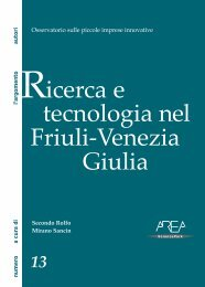 Ricerca e tecnologia nel Friuli-Venezia Giulia - AREA Science Park