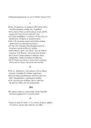 Callimachi Epigrammata - Facoltà di Lettere e Filosofia