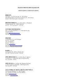 ELENCO DITTE SPECIALIZZATE BIBLION ... - Regione Abruzzo