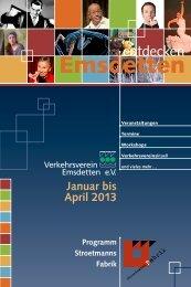 Emsdetten entdecken | Januar bis April 2013