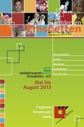 Emsdetten entdecken | Mai bis August 2013