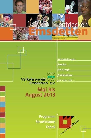 Emsdetten entdecken   Mai bis August 2013