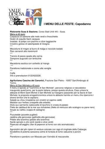 I MENU DELLE FESTE: Capodanno - Valle di Susa. Tesori di Arte e ...