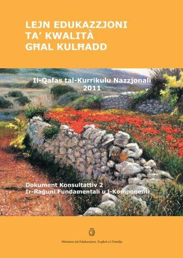 Qafas tal- Kurrikulu Nazzjonali - Ministry of Education