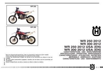 (EN) WR 300 2012 USA - Husqvarna