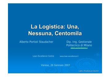 La Logistica: Una, Nessuna, Centomila