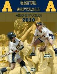 Softball - Allegheny College Athletics